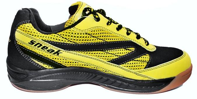 Harrow Sneak Men's Indoor Court Shoe (Black/Yellow)