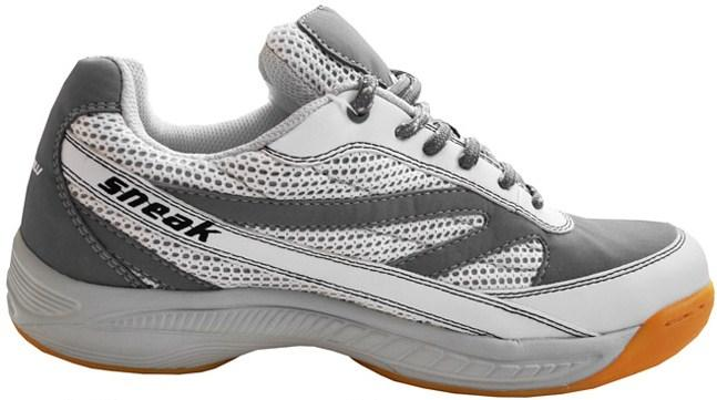 Harrow Sneak Men's Indoor Court Shoe (White/Grey)