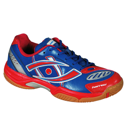 Harrow Volt Men's Indoor Court Shoe (Blue/Red)