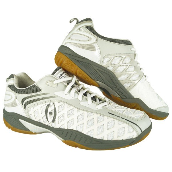 NEW Harrow Vortex Men's Indoor Court Shoe (White/Grey)