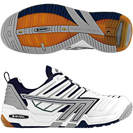 Hi-Tec 4:SYS Squash Men's Shoe (White/Navy) - ONLY SIZE 7, 7.5 & 14 LEFT IN STOCK