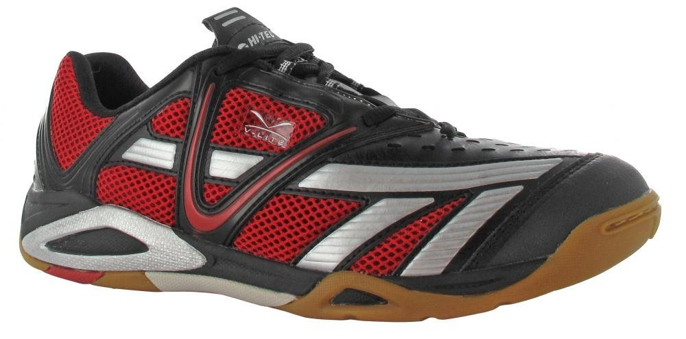 Hi-Tec V Lite Cross Court Men's Shoe (Black/Red/Silver) - ONLY SIZE 11.5 LEFT IN STOCK