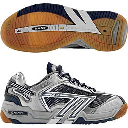 Hi-Tec H700 4:SYS Squash Men's Shoe (Grey/Navy/Silver) - ONLY SIZE 7 & 8 LEFT IN STOCK