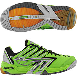 Hi-Tec S700 4:SYS Squash Men's Shoe (Lime/Black/Silver) - ONLY SIZE 7 & 7.5 LEFT IN STOCK