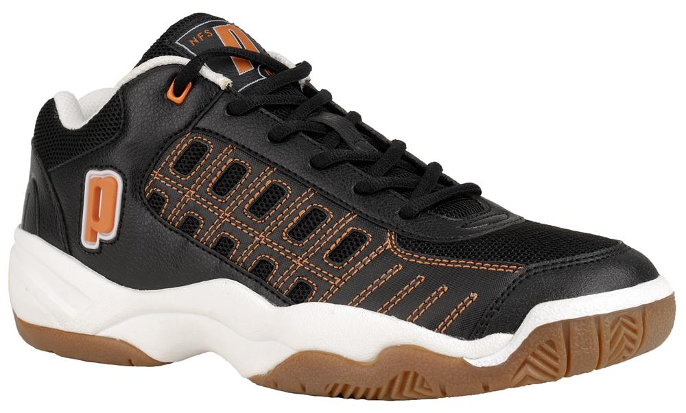 Prince NFS Rally Indoor Men's Shoe (Black/White/Orange) - ONLY SIZE 7.5 LEFT IN STOCK