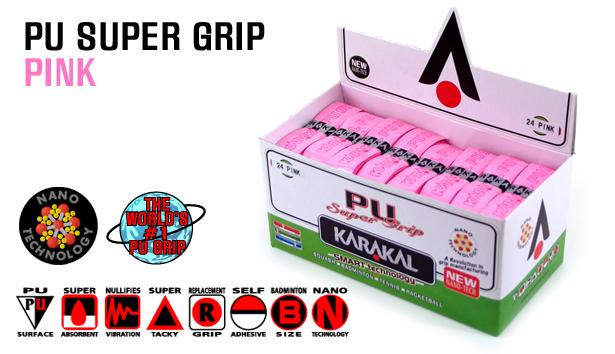 24 Karakal PU Super Grips (Pink)