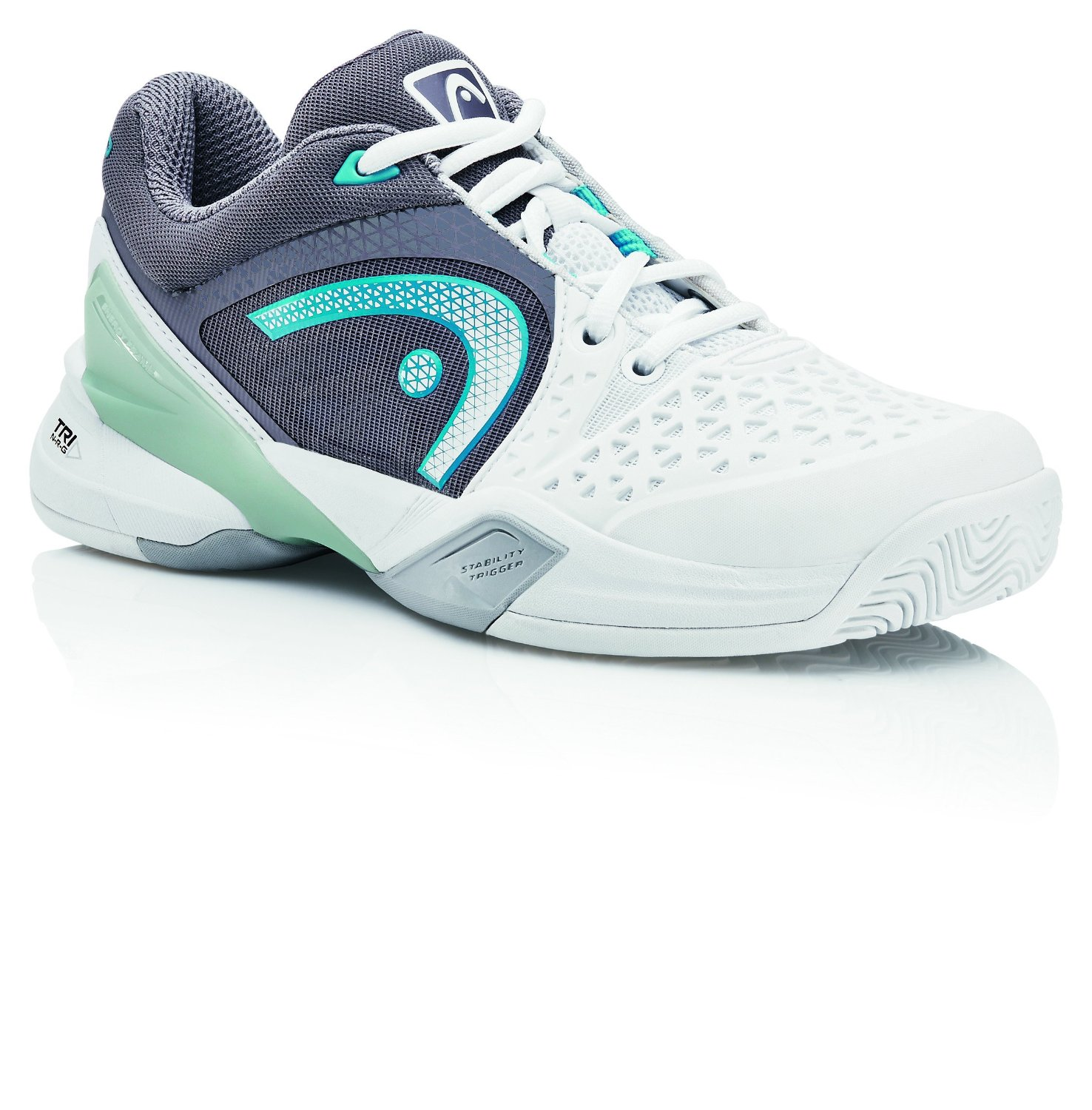 Head Revolt Pro Women's Tennis Shoe (White/Cyan/Blue)