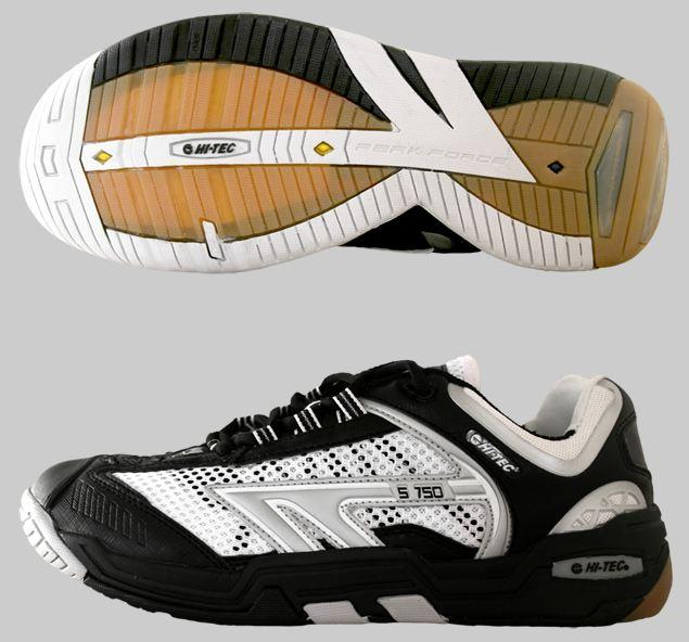 Hi-Tec S750 4:SYS Indoor Men's Shoe (Black/White/Silver) - ONLY SIZE 8.5 & 11.5 LEFT IN STOCK