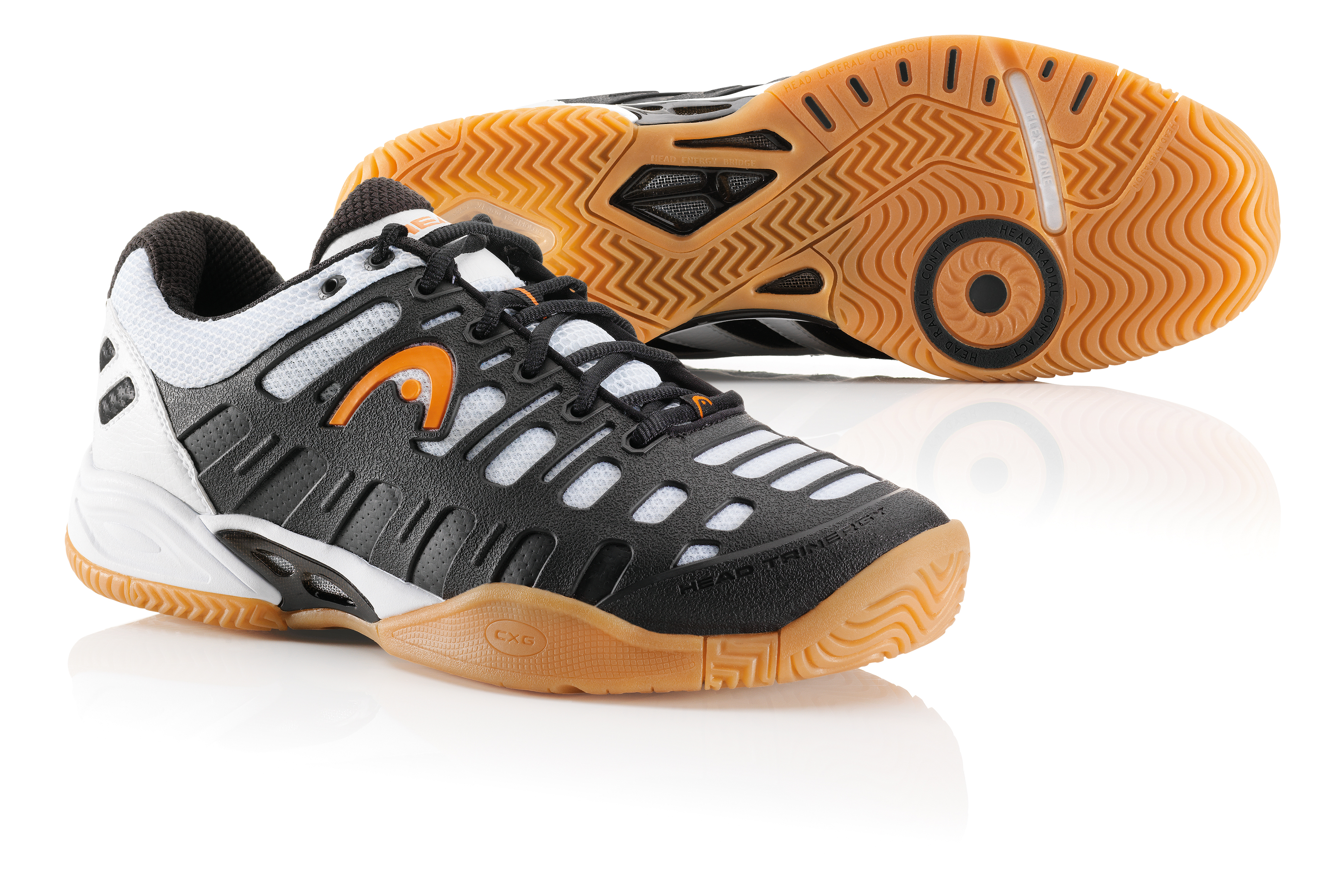 Head Speed Pro II Lite Indoor Men's Shoe (Black/White/Orange)