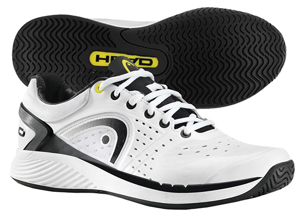 Head Sprint Pro Men's Tennis Shoe (White/Black) - ONLY SIZE 11.5 LEFT IN STOCK