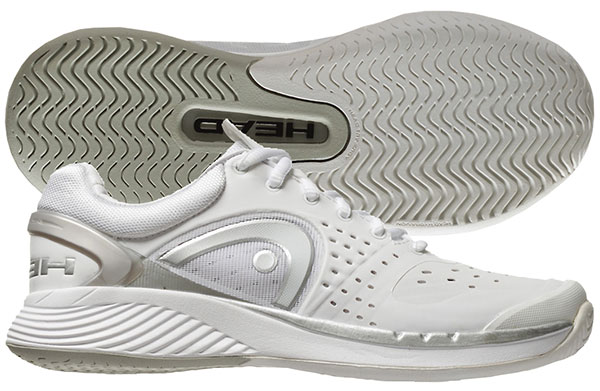 Head Sprint Pro Women's Tennis Shoe (White/Grey/Silver)