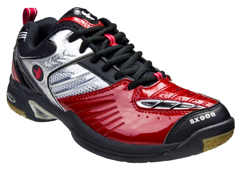 Saxon SX900 Indoor Men's Shoe (Black/Red)