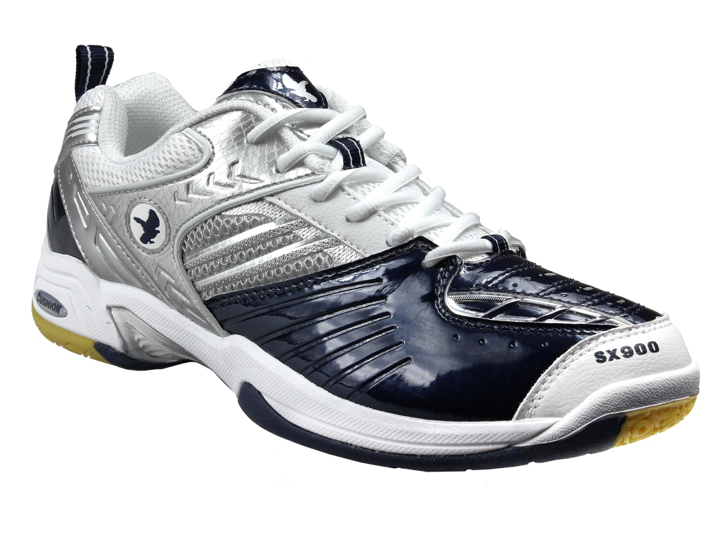 Saxon SX900 Indoor Men's Shoe (White/Navy)
