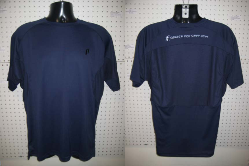 Prince Comp Crew Shirt with squashproshop.com logo (Navy)