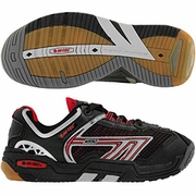 Hi-Tec M550 3D Squash Men's Shoe (Black/Red/Silver)