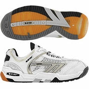 Hi-Tec M550 3D Squash Men's Shoe (White/Black/Silver) - ONLY SIZE 7.5, 8 & 8.5 LEFT IN STOCK