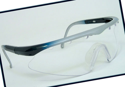 Black Knight Turbo Eyewear (Silver/Blue)